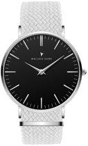 Wallace Hume Zwart - Horloge - Perlon - Wit