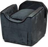 Snoozer Lookout - Autostoel - Autozitje voor honden - Small 48x38x43 cm - Antraciet - Met lade