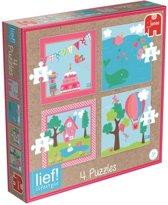Jumbo Lief! Girls - 4in1 Puzzel