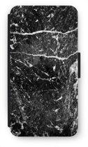 Samsung Galaxy J5 (2016) Flip Hoesje - Zwart marmer
