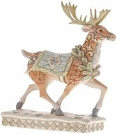 Jim Shore beeldje - Heartwood Creek collectie - Adventure Awaits (White Woodland Walking Reindeer)
