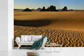 Fotobehang vinyl - Zandvorming in het nationale park Tassil n'Ajjer breedte 600 cm x hoogte 400 cm - Foto print op behang (in 7 formaten beschikbaar)