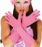 handschoenen lang pink - medium