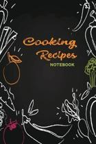 Microwave Cooking Recipes: A Notebook with Prompts to Record Your Collection of Cooking Recipes - Write Notes & Cooking Recipes - Line Drawing