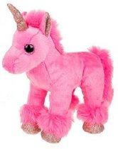 Roze Eenhoorn Knuffel met glitters 20 cm