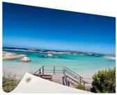 Strand Australie Tuinposter 200x100 cm - Tuindoek / Buitencanvas / Schilderijen voor buiten (tuin decoratie) XXL / Groot formaat!