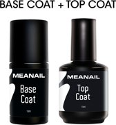 Base en Top Coat - MEANAIL®Paris - Base Coat 10ml - Top Coat 15ml