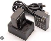 Powerkit3; GoPro lader met 2 x reserve batterien voor de GoPro Hero3 & Hero3+