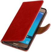Zakelijke Bookstyle Hoesje voor Samsung Galaxy J7 (2016) Rood