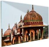 Galtaji Tempel India Glas 60x40 cm - Foto print op Glas (Plexiglas wanddecoratie)
