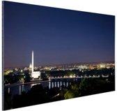 Skyline Washington DC bij nacht Aluminium 120x80 cm - Foto print op Aluminium (metaal wanddecoratie)