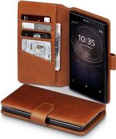 Sony Xperia L2 hoesje - CaseBoutique - Cognac - Leer