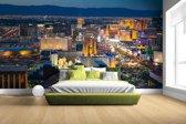 Luchtfoto verlicht stadsbeeld Las Vegas Fotobehang 380x265