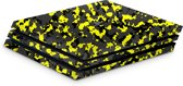 Playstation 4 Pro Console Skin Camo Geel