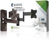 König KNM-SFM30 - Kantelbare en draaibare muurbeugel - Geschikt voor tv's van 10 t/m 26 inch - Zwart