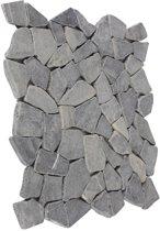 Mozaïektegel breuksteen marmer grijs 29,6 x 29,6 cm