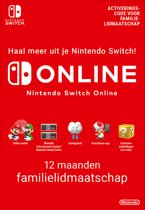 12 Maanden Online Familie Lidmaatschap - Nintendo Switch