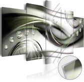 Afbeelding op acrylglas - Parels op het groen,   5luik