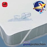 Homéé ® Plateau Waterdicht PU Matrasbeschermer Flanel 140x200 +30cm 100% geruwd katoen 220g. p/m2