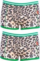 Claesens - Meisjes 2-Pack Boxershorts Brown Panther - 140/146