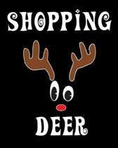Shopping Deer: Deer Elk Antler Hunting Hobby 2020 Monthly Planner Dated Journal 8'' x 10'' 110 pages