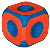 Chuckit Kick Cube Apporteerkubus - 15 x 15 cm - Blauw/Rood