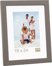 Deknudt Frames moderne fotolijst, taupe, hout fotomaat 15x15 cm
