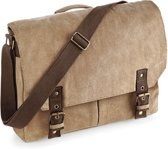 Quadra Vintage Canvas Messenger Sahara