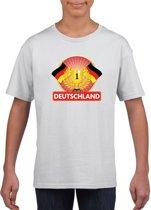 Wit Duits kampioen t-shirt kinderen - Duitsland supporter shirt jongens en meisjes M (134-140)