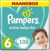 Pampers Active Baby Dry Maandbox Maat 6 – 108 luiers