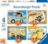 Ravensburger Despicable Me 4 puzzels 12 16 20 24 stukjes