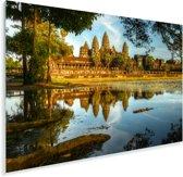 Het buitenaanzicht van Angkor Wat Plexiglas 180x120 cm - Foto print op Glas (Plexiglas wanddecoratie) XXL / Groot formaat!