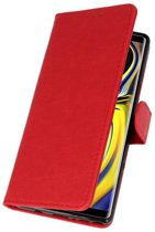 Wicked Narwal | bookstyle / book case/ wallet case Wallet Cases Hoes voor Samsung Galaxy Note 9 Rood