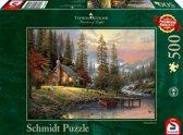 Schmidt Puzzel: Thomas Kinkade - Huis In De Bergen