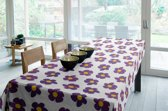 Joy@home Tafellaken - Tafelkleed - Tafelzeil - Bloem Paars