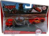 Disney Cars auto Lightning McQueen met Pit Crew Launchers