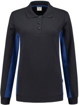 Tricorp polosweater bi-color dames - 302002 - navy / koningsblauw - maat 3XL