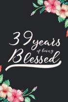 Blessed 39th Birthday Journal