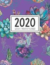 2020 Weekly Monthly Planner: Monthly Calendar - Weekly Organizer - Monday Start - Purple Cover - January 2020 - December 2020