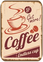 Papillon Afdruipmat met print - antislip keukenmat - get more coffee - 50x40 cm