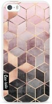 Casetastic Softcover Apple iPhone 5 / 5s / SE - Soft Pink Gradient Cubes