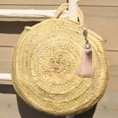 Myroundie - Roundie Bag - Ronde Ibiza Boho Tas 39 - Hand gevlochten Palmblad Tas – Maat S