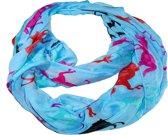 Sjaal van sjaal 90 x 50 cm; gemaakt van 100% polyester. Blauw 90 x 50 cm