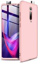 Teleplus Xiaomi Mi9T Case 360 Ays Hard Rubber Cover Rose Gold hoesje