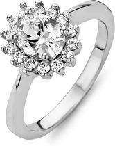 New Bling 943282895-58 - Zilveren Ring Rozet Wit zirkonia Rhodium