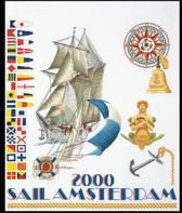 Thea Gouverneur Borduurpakket 3080A Sail Amsterdam 2000 - Aida stof 100% katoen
