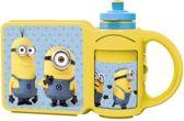 Minions Broodtrommel / Lunchtrommel met Bijpassende Drinkfles voor Kinderen | Lunch Trommel | Lunchboxen | Drinkbeker | Drinkbekers | Lunch Box | Lunchbox | BPA Vrij