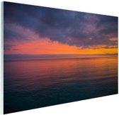 Zonsopkomst over de Middellandse Zee Glas 30x20 cm - klein - Foto print op Glas (Plexiglas wanddecoratie)