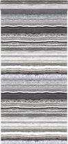 Origin behang gelaagd marmer steen zwart en wit