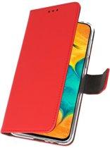 Samsung Galaxy A30 Wallet Case Hoesje Rood